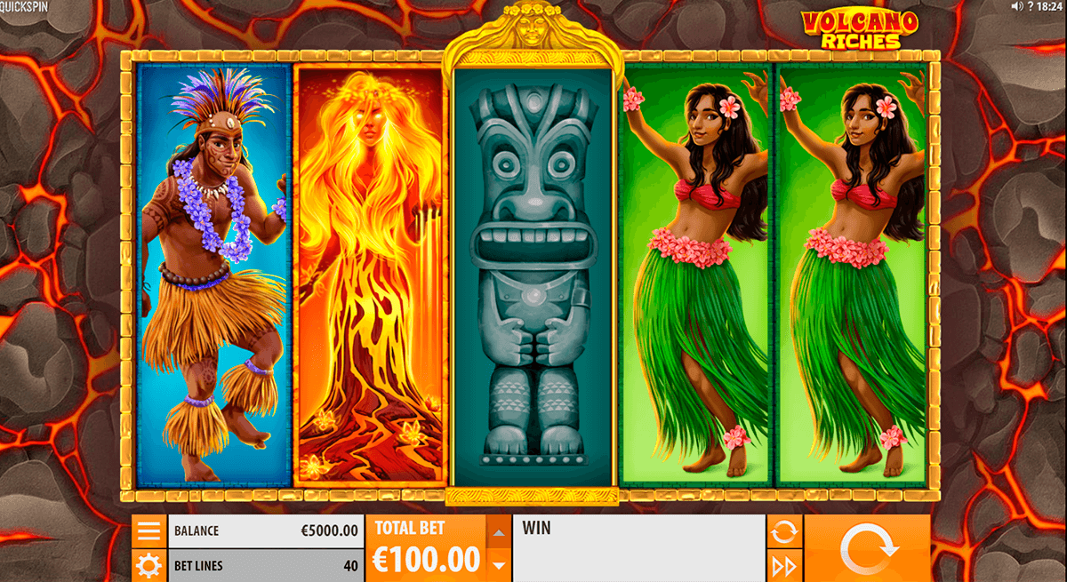 volcano riches quickspin slot