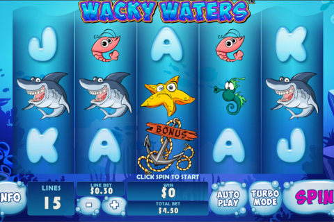 wacky waters playtech slot