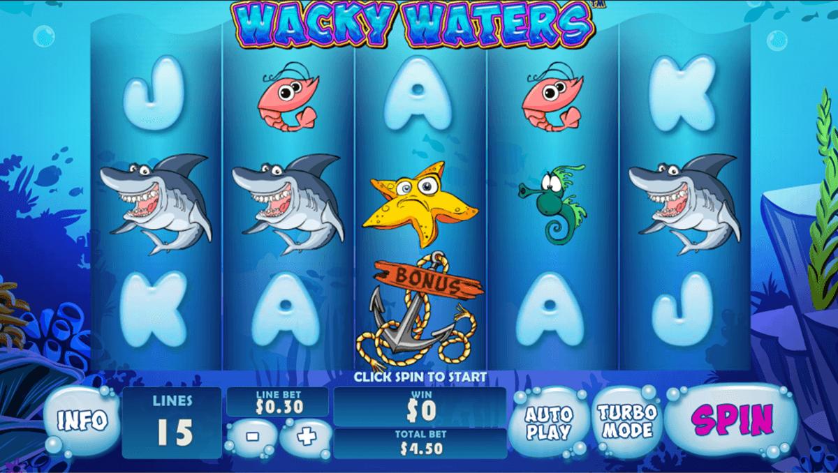 wacky waters playtech slot