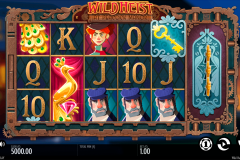 wild heist at peacock manor thunderkick slot