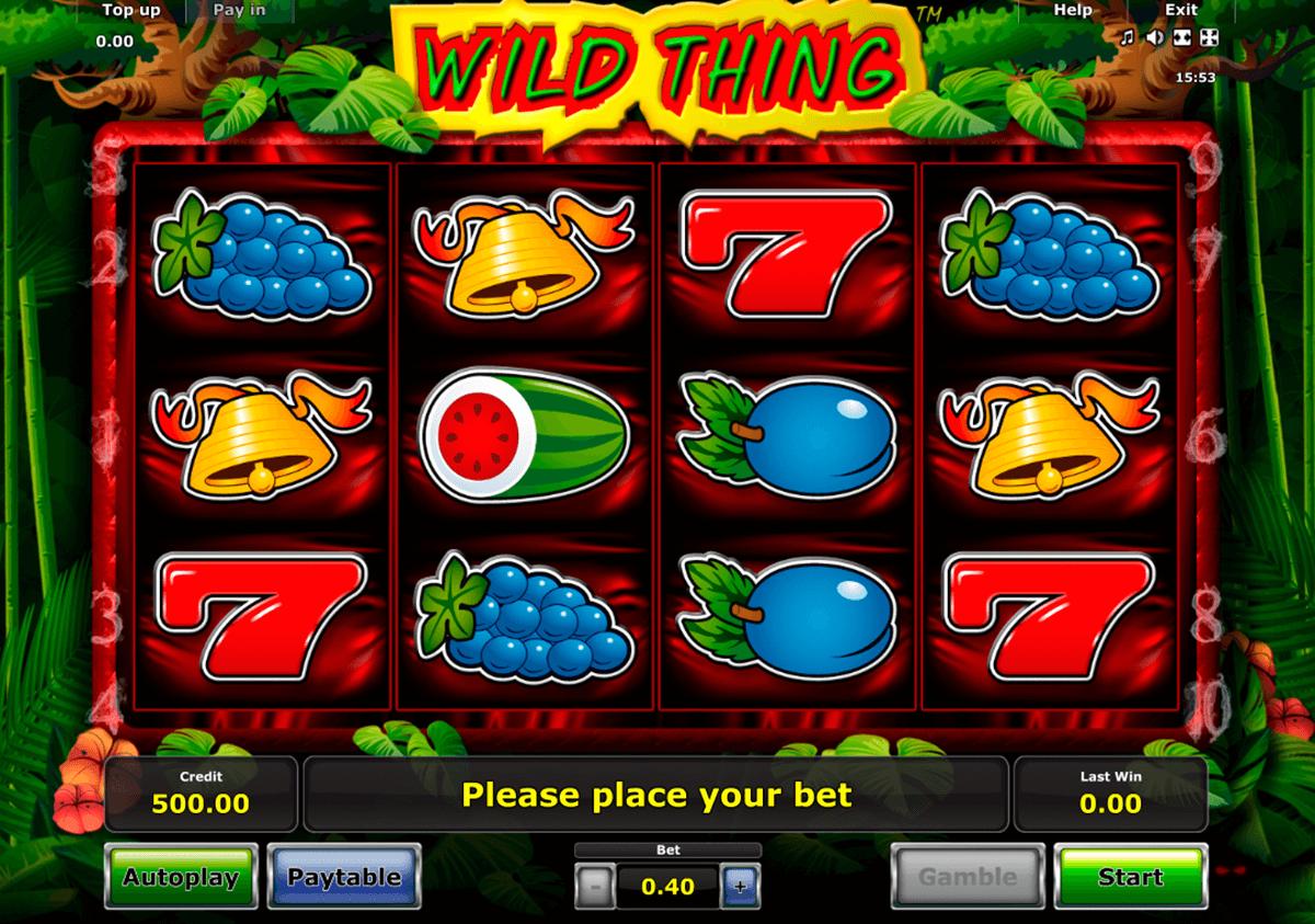 wild thing novomatic slot