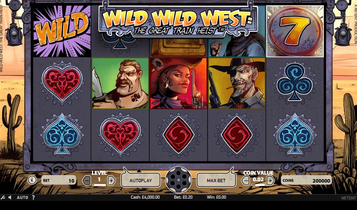 wild wild west the great train heist netent slot