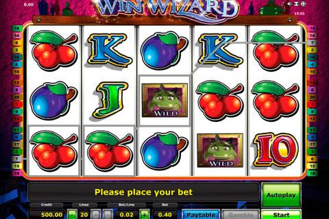 win wizard novomatic slot