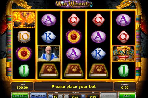 win wizards novomatic slot